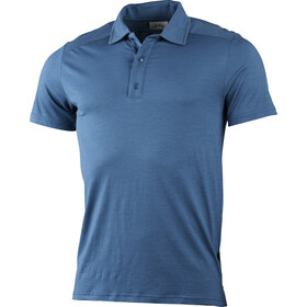 Lundhags Gimmer Merino Light Polo Tee Men azure